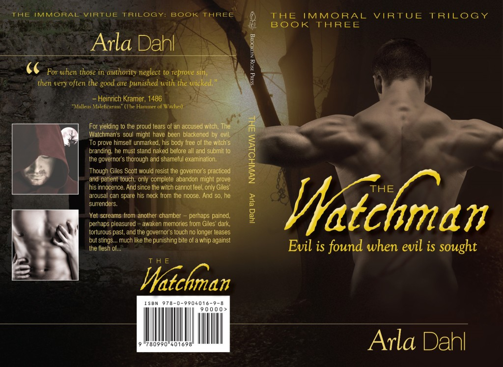 Cover Flat for The Watchman - Immoral Virtue, Book 3