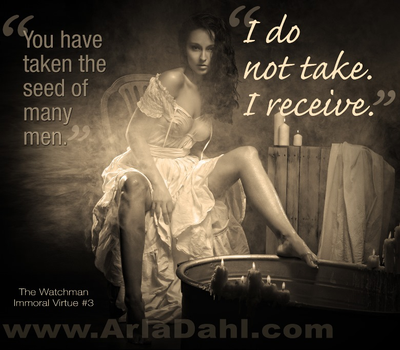 """I do not take, I receive"" Beautiful woman bathing"