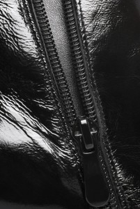 Masturbation Monday - Week 84 - closeup Leather wih zipper